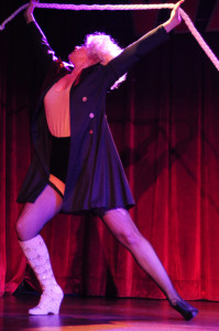 Boo Bess performing at the 2013 Wasabassco Burlesque Ninth Anniversary Show