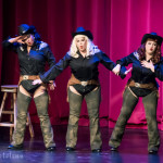 Brazen Belles performing at the 2016 Burlesque Hall of Fame Thursday night Movers, Shakers and Innovators Showcase.