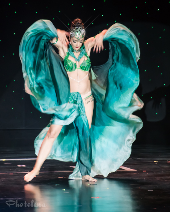 Briana Bluebell performing at the 2016 Burlesque Hall of Fame Saturday night Tournament of Tease debut category.