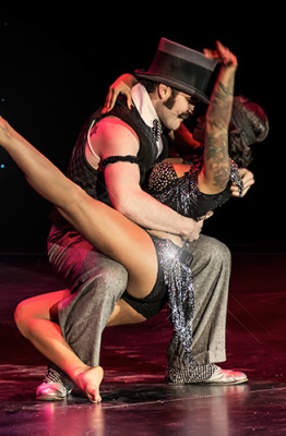 Russell Bruner and Sandria Dore performing at the 2014 Burlesque Hall of Fame Tournament of Tease