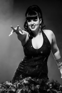 Bunny Buxom performing at the Toronto burlesque show Girlesque 2015, the Saturday late show.