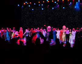 Burlesque Legends gather onstage for their curtain call, Burlesque Hall of Fame 2014