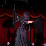 Calamity Chang performing at the New York Burlesque Festival 2015 Friday night premiere party at Brooklyn Bowl.