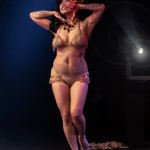 Calamity Chang performing at the 2014 New York Burlesque Festival Golden Pastie awards burlesque show