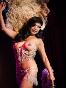Calamity Chang performing at Bedroom Burlesque: A Penthouse Forum Release Party With The New York School of Burlesque