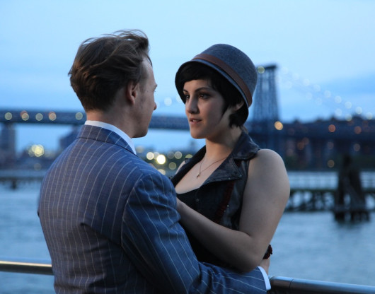 Charly Bivona & J.D. Oxblood as Minnie Wohl & J.P. Porter on the Williamsburg waterfront in Hashtag Annie Hall, a film by JD Oxblood http://hashtaganniehall.nyc/