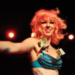 Cherry La Voix performing at the 2013 Wasabassco Burlesque Ninth Anniversary Show