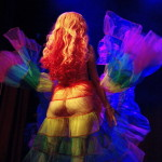 Cherry Pitz performing at Hotsy Totsy Burlesque show Wizard of Oz Burlesque at the Slipper Room, NYC.