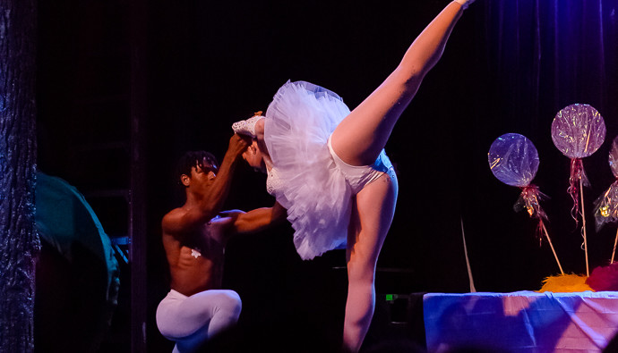 Chess Shires and Ella Ardour performing at Broads and Panties Burlesque's A Nearly Naked Nutcracker, December 20, 2014, Dallas, Texas.