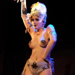 Clara Coquette performing at Hotsy Totsy Burlesque Tribute to Downton Abbey.
