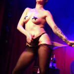 Clea Cutthroat performing at Hotsy Totsy Burlesque show Wizard of Oz Burlesque at the Slipper Room, NYC.