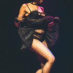 Coco Framboise performing at the 2015 Toronto Burlesque Festival teaser show, Crystal Menagerie