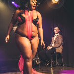 Coco La Creme performing at Skin Tight Outta Sight Rebel Burlesque's 2017 Voulez-Vous Valentine show at Revival bar in Toronto.