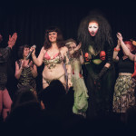 Curtain call for burlesque show, Coochie Crunch presents Warrior Women, Bristol, UK.