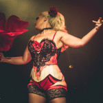 DD Starr performing at the 2015 Toronto Burlesque Festival teaser show, Crystal Menagerie