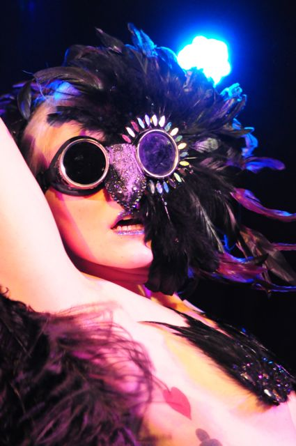 Dangrrr Doll performing at the New York Burlesque Festival 2012 Premiere Party
