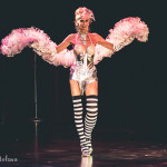 Daisy Delight onstage for the 2015 Burlesque Hall of Fame Weekend Legends of Burlesque Walk of Fame.