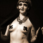 Dandy Dillinger performing at the Hollaback Girls Benefit Burlesque Show