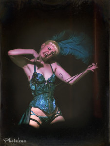 Dangrrr Doll performing at the 2014 New York Burlesque Festval