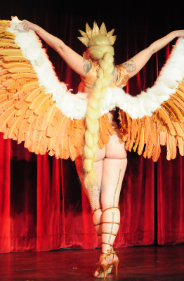Dangrrr Doll performing at the 2015 New York Burlesque Festival Thursday Night Teaser Party.