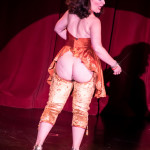 Darlinda Just Darlinda onstage at the 2016 Burlesque Hall of Fame Friday Night Legends Reunion Showcase.