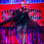 Deanna Danger performing at the Mason Dixie Burlesque Tour on February 26, 2015 at Three Links, Dallas, Texas