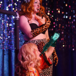 DeeDee Derriere performing at Burlesque on Broadway at Lannie's Clocktower Cabaret in Denver, Colorado.