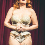 Delicia Pastiche performing at the Bad Girls of History burlesque show in Toronto.