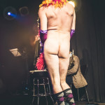 Dew Lily performing at Skin Tight Outta Sight Rebel Burlesque's 2017 Voulez-Vous Valentine show at Revival bar in Toronto.