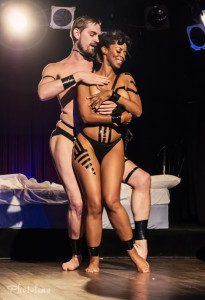 Dew Lily and Coco Framboise performing at the Toronto Burlesque Festival 2014 Day 1