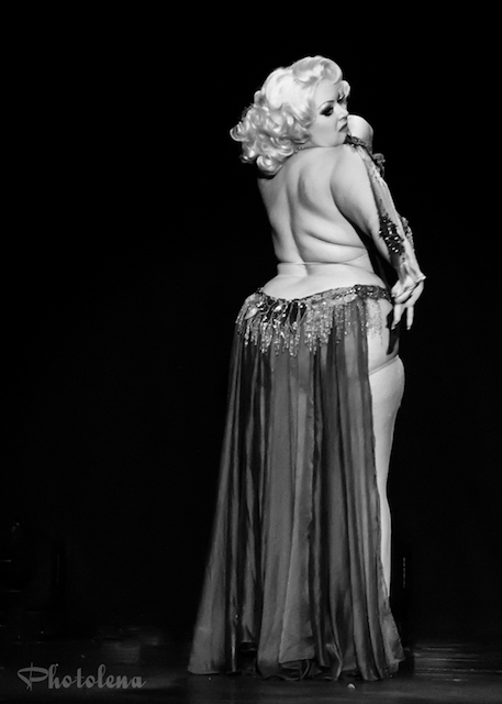 Dirty Martini performing at the 2016 Toronto Burlesque Festival Saturday night late show, Stars of the Screen, at the Virgin Mobile Mod Club.