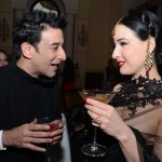 Dita Von Teese sips cointreaupolitan at Be Contreauversial party in New Delhi, India