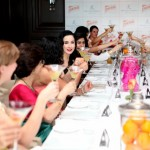Dita Von Teese raises a glass at Be Contreauversial party in New Delhi, India