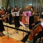 String quartet performs at Be Cointreauversial party in Bangkok, Thailand