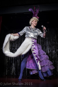 Dom Mattos performing at Cabaret Roulette in London