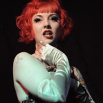 Dottie Dynamo performing at the Hollaback Girls Benefit Burlesque Show