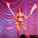 Dottie Dynamo performing at the 2015 Great Burlesque Exposition 9, The Main Event.
