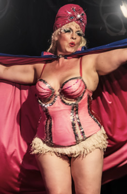 Dr Lucky performing at the Toronto Burlesque Festival 2014 Day 1