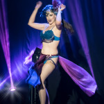 Esther De Ville performing at the Toronto Burlesque Festival 2015 Glam-a-ganza show.