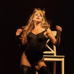 Eve of Destruction performing at the 2014 Toronto Burlesque Festival