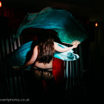 Evelyn Carnate performing at London burlesque show, Burlesque in Underland.