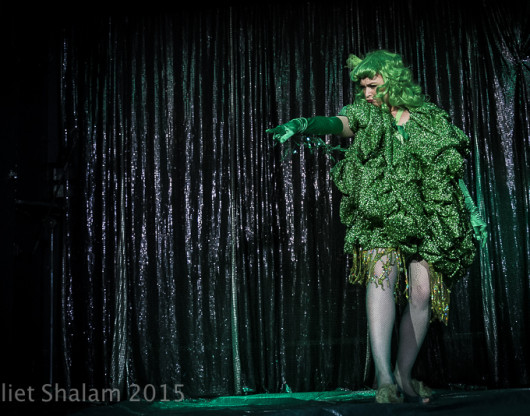 Felicity Furore performing at Cabaret Roulette in London