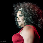 Foxy Tann onstage at the Burlesque Hall of Fame 2016 Sunday Icons and All-stars Showcase.