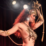 Foxy Vermouth performing at the 2014 New York Burlesque Festival