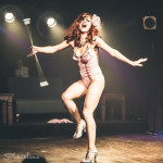 Francine the Lucid Dream performing at Peepshow TO's Twin Peaks Burlesque: Fire Strip With Me, in Toronto
