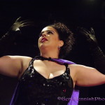 Frankie Eleanor performing at the Prince burlesque tribute show, Quintessential: The Purple Rain Edition.