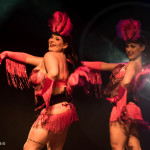 Frenchie Fatale and Kinky La Femme performing at the Toronto burlesque show Girlesque 2015, the Saturday late show.