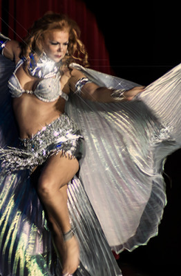 Gabriella Maze performing at the 2014 Burlesque Hall of Fame Titans of Tease Reunion Showcase