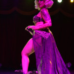 GiGi La Femme performing at the New York Burlesque Festival 2015 Friday night premiere party at Brooklyn Bowl.