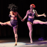 Gin Minksy & Perle Noire performing at the 2014 New York Burlesque Festival Golden Pastie awards burlesque show